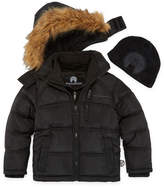 Weatherproof Heavyweight Puffer Jacket with Beanie - Boys-Big Kid