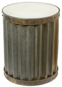 Williston Forge Mateo Industrial Metal Accent End Table