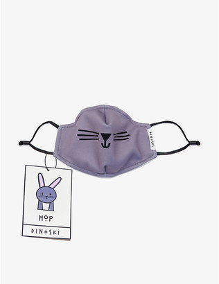 Dinoski Reusable Boys Purple Kids Bunny Three-Layer Face Covering Mask For 3-16 Years