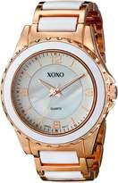 XOXO Women's XO5300 Rose Gold and Bracelet Watch