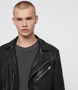 AllSaints Roundhouse Leather Biker Jacket