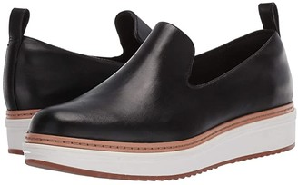 Clarks Teadale Genna (Black Leather) Women's Slip on Shoes
