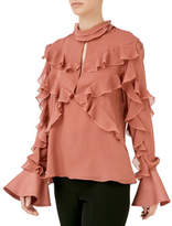 Nicholas Ruffled Layered Top