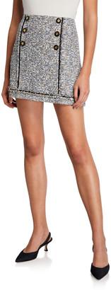 Veronica Beard Alfie Tweed Button Skirt
