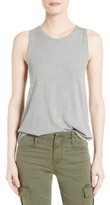 Vince Women's Cotton & Silk Twist Back Tank