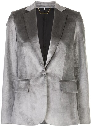 Frame Single-Breasted Blazer