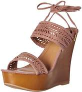 Qupid Women's Kendall-60a Wedge Sandal,6 M US
