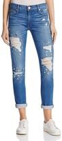 True Religion Liv Embellished Boyfriend Jeans in Bowie Blue Destroy