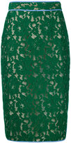 MSGM lace pencil skirt - women - Cotton/Polyamide/Polyester/Viscose - 44