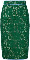 MSGM lace pencil skirt - women - Polyamide/Cotton/Viscose/Polyester - 44