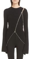 Givenchy Women's Asymmetrical Zip Sweater