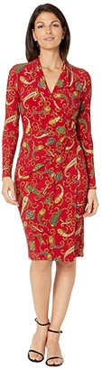 Lauren Ralph Lauren Faria Dress (Lakehouse Red/Blue/Multi) Women's Dress