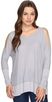 Culture Phit Elise Long Sleeve Top with Open Shoulder Women's Dress