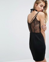 Miss Selfridge Lace Back Cami Dress
