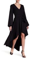 Do & Be Do + Be V-Neck Midi Hi-Lo Dress