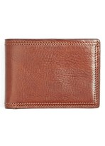 Bosca Men's Leather Bifold Wallet - Brown