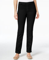 Karen Scott Petite Straight-Leg Pants, Only at Macy's