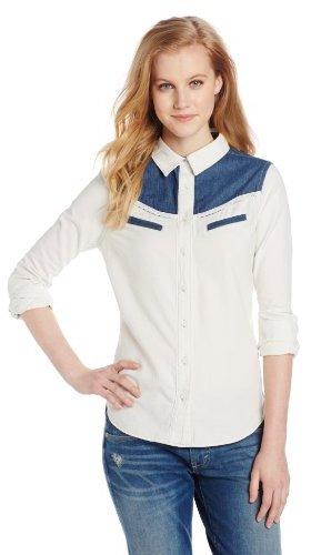 Levi's Women's Denim Block Western Tailored Shirt