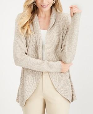 Karen Scott Cocoon Open-Front Cardigan, Created for Macy's