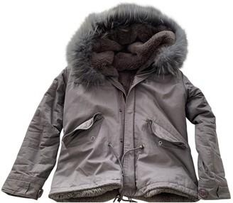 Ducie Grey Cotton Coat for Women