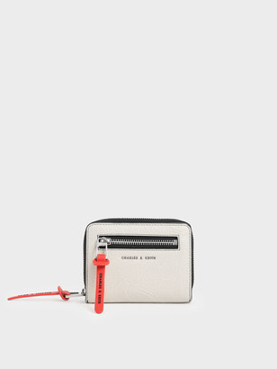Charles & Keith Mini Wrinkled Effect Short Wallet