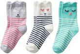 Carter's Girls 4-6 3-pk. Character Crew Socks