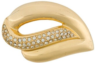 Christian Dior 1980s pre-owned Swarovski crystals brooch