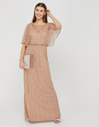 Under Armour Angelina Beaded Maxi Dress Pink