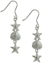 Giani Bernini Starfish & Shell Drop Earrings in Sterling Silver, Only at Macy's