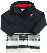 Little Marc Jacobs Cotton Canvas & Faux Shearling Raincoat