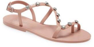 Schutz Bria Crystal Embellished Sandal