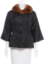 Dolce & Gabbana Fox Fur-Trimmed Button Up Jacket