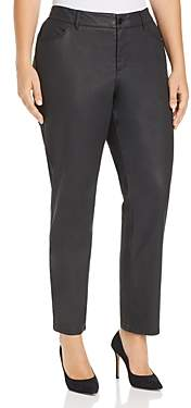 Lafayette 148 New York Plus Mercer Coated Jeans in Black