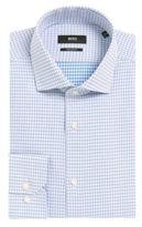 HUGO BOSS Cotton Dress Shirt, Regular Fit Gordon 16 Blue