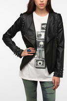 Sparkle & Fade Studded Spike Moto Jacket