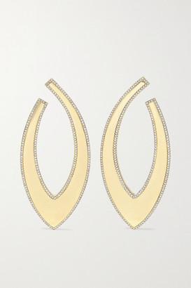 Ofira Bevel 18-karat Gold Diamond Earrings - one size