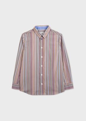 Paul Smith 8-16 Years Signature Stripe Cotton Shirt