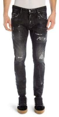DSQUARED2 Skater Distressed Skinny Jeans