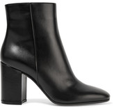 Gianvito Rossi 85 Leather Ankle Boots - Black