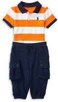 Ralph Lauren Baby Boys Striped Polo and Jogger Pants Set