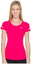 New Balance NB Ice Short Sleeve Shirt Women's Short Sleeve Pullover