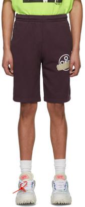 Off-White Off White Purple Tape Arrows Sweat Shorts