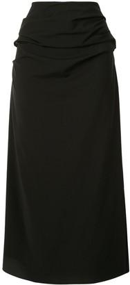 Georgia Alice Suiting draped skirt