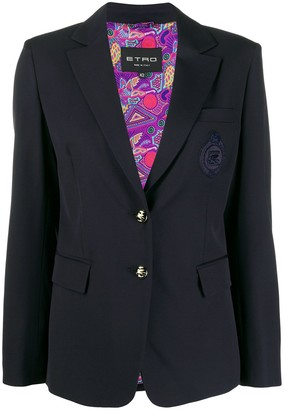 Etro Logo Embroidered Blazer