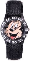 Disney Children's 32mm Smiling Mickey Mouse Plastic Watch in Black