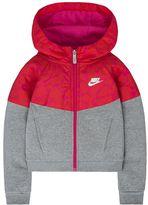 Nike Girls 4-6x Mixed-Media Fleece Windrunner Hoodie