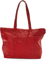 Le Donne Red Leather Tote