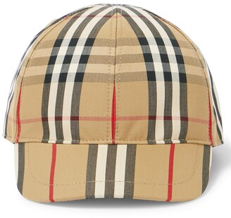 BURBERRY KIDS Vintage Check cotton baseball cap