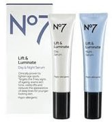 Boots No7 Lift & Luminate Day & Night Serum, 0.5 oz