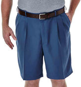 Haggar Cool 18 No-Iron Pleated Shorts-Big & Tall